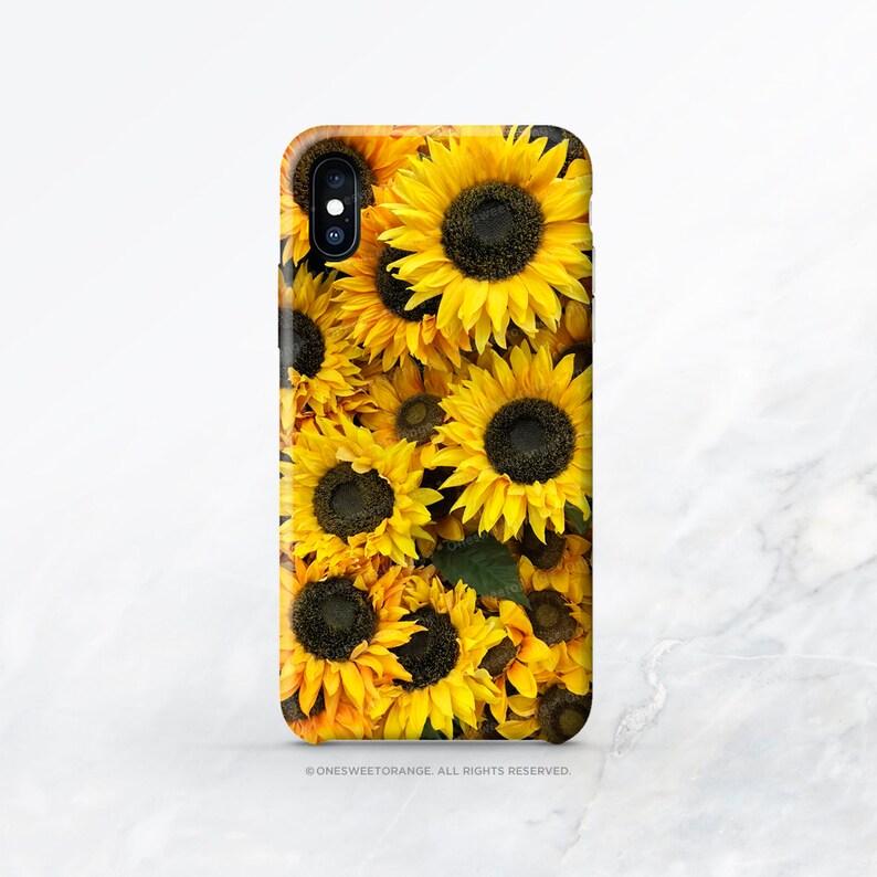sunflower iphone xs case