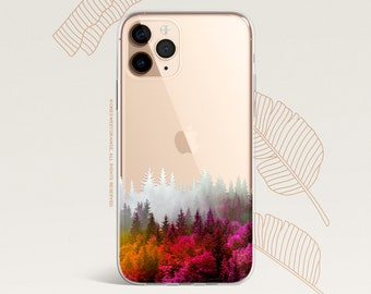 iPhone 12 Case Fall Forest iPhone 11 Pro Case Clear Rubber iPhone 11 Pro Max iPhone XS iPhone XS Max iPhone XR iPhone X iPhone 8 Case U31