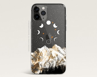 iPhone 12 Case Moon iPhone 11 Pro Case Clear Rubber iPhone 11 Pro Max Case iPhone XS iPhone XS Max iPhone XR iPhone X iPhone 8 Case U277