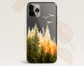 iPhone 12 Case Fall Forest iPhone 11 Pro Case Clear Rubber iPhone 11 Pro Max iPhone XS iPhone XS Max iPhone XR iPhone X iPhone 8 Case U539