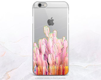 iPhone 8 Case iPhone X Case iPhone 7 Case Cacti Clear GRIP Rubber Case iPhone 7 Plus Clear Case iPhone SE Case Samsung S8 Plus Case U266