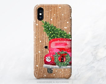 iPhone 12 Case Christmas Truck iPhone 11 Pro Case iPhone 11 Pro Max Case iPhone XS Case iPhone XS Max Case iPhone XR Case iPhone X Case T105