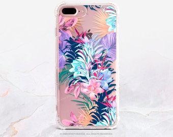 iPhone 8 Case iPhone X Case iPhone 7 Case Floral Clear GRIP Rubber Case iPhone 7 Plus Clear Case iPhone SE Case Samsung S8 Plus Case U218