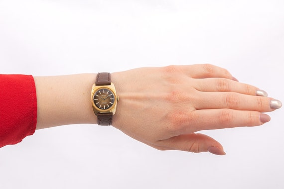 Brixon ladies watch,vintage women watch,gold wome… - image 3