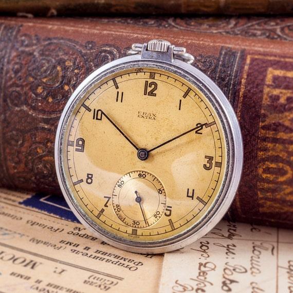 vintage pocket watch, Erax pocket watch,swiss pock
