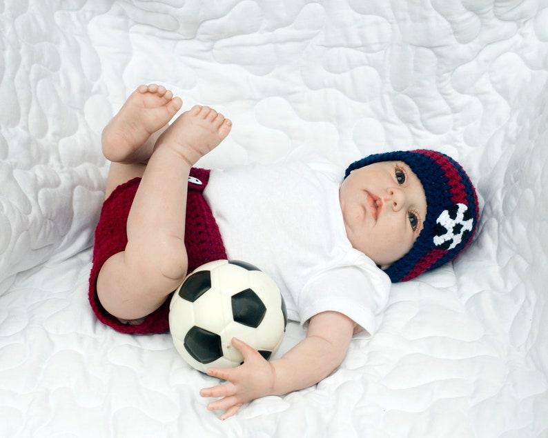 24d4d416c57 BARCELONA BABY SOCCER Crochet Soccer Baby Beanie Baby Soccer