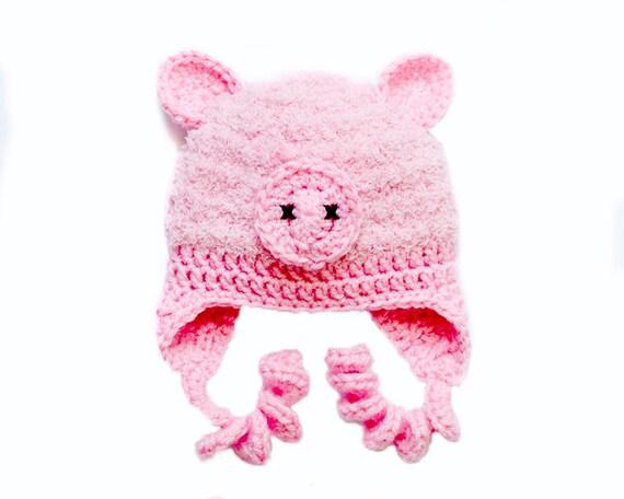 Baby Schwein Mütze Baby Mützen Rosa Schwein Hut Hut Häkeln Etsy
