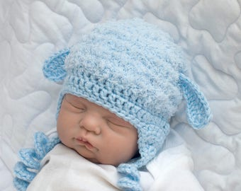 EASTER BABY BOY Hats, Baby Boy Clothes, Crochet Baby Hat Animal Baby Hats, Baby Lamb Hat Crochet Blue Hat, Newborn Lamb Hat, Newborn Easter