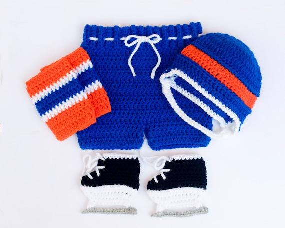 Baby Boy Hockey Outfit Stricken Hockey Helm Häkeln Baby Etsy