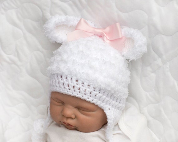6665afff052 BABY GIRL HATS Baby Boy Hats Fuzzy Crochet Baby Hat Animal