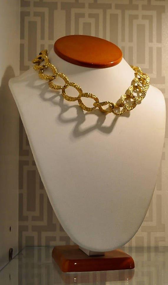 vintage mid century modern gold chain