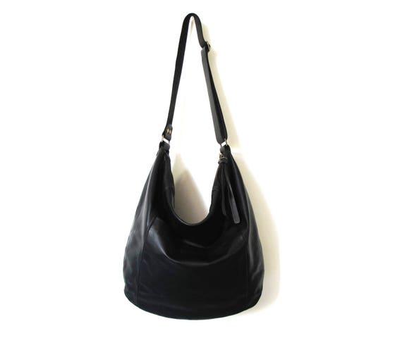 438a8fdcafefc Black leather bag SALE leather hobo bag soft leather bag | Etsy