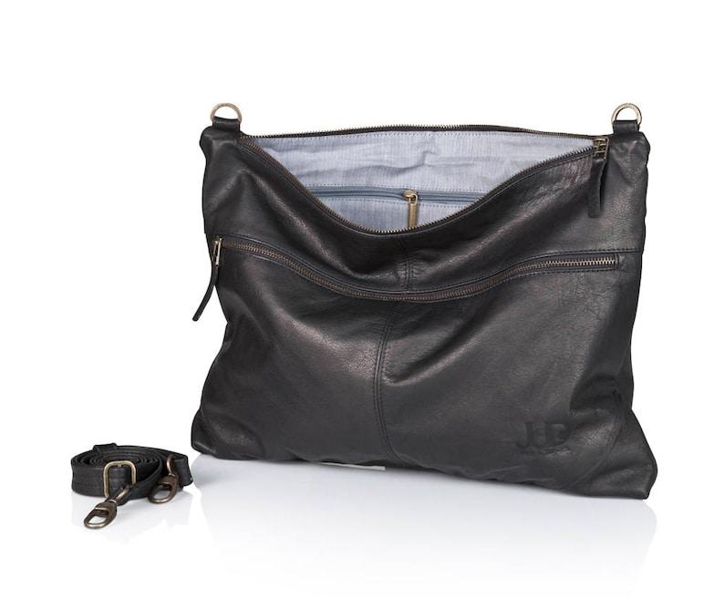dbcabc3740ec Black leather messenger bag soft leather purse SALE