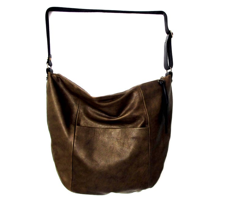 55e7578899a6 Olive gray leather bag hobo leather bag SALE crossbody