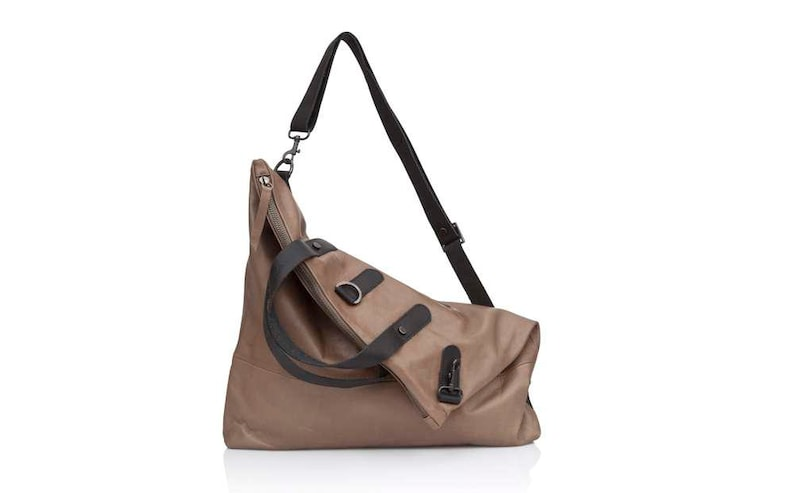 d23fd1a58e Walnut brown leather crossbody bag Convertible soft Leather