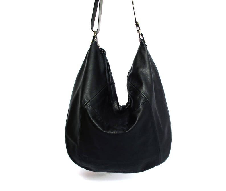 24ff806cdca9 Black leather bag leather purse SALE hobo leather bag