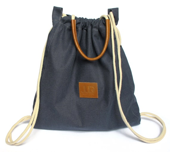 c6168c314e Navy backpack purse multi sack bag SALE Navy tote bag gold