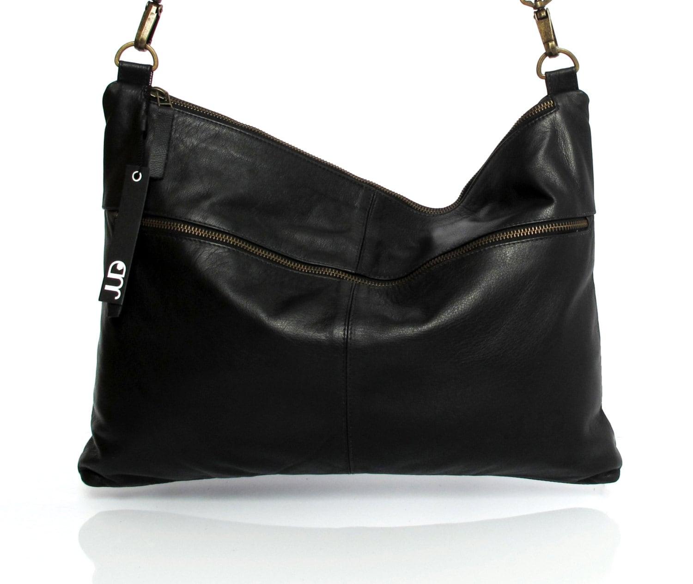 684493a7483c Black leather hobo bag women soft black leather bag SALE black | Etsy