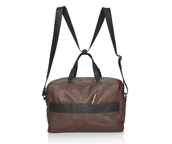 Brown leather bag soft leather bag SALE multi way bag   Etsy acea074534