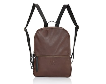 Brown leather backpack purse- brown leather satchel  SALE brown leather backpack women- leather back bag women backpacks laptop JUDTLV bags