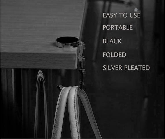 Portable Hanger Desk Hook Bag Handbag Purse Holder Table Folding Decoration JD