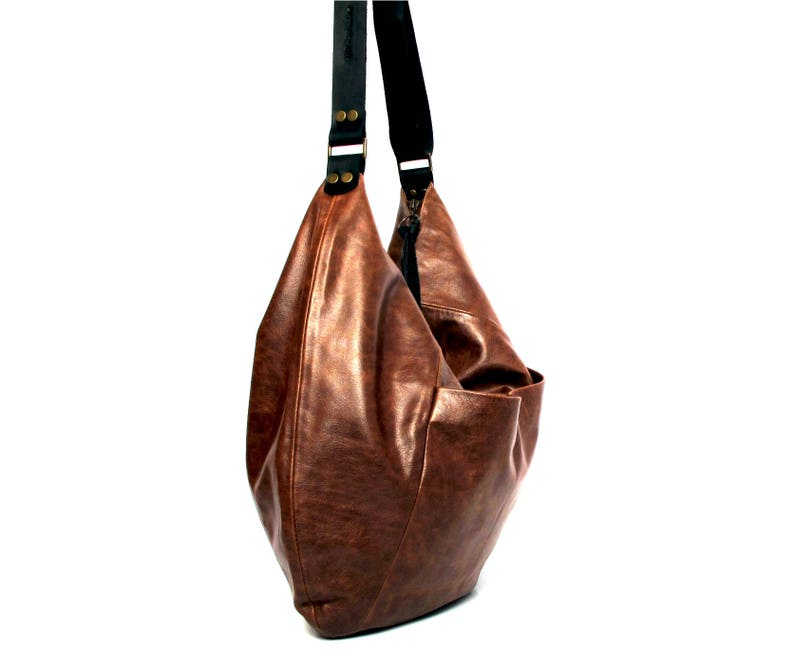 5bf52bbb7f Brown leather hobo bag soft leather purse SALE brown leather