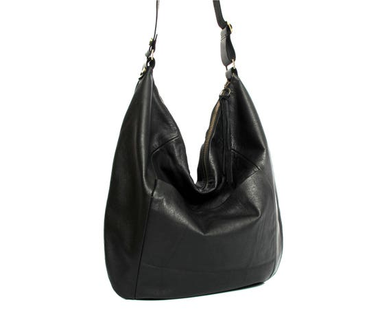 3b048d9210bd Black leather bag SALE leather hobo bag soft leather bag large leather bag  crossbody bag women