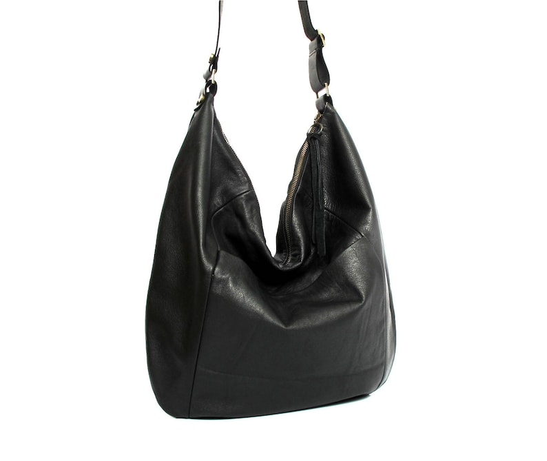 acea9560a76a Black leather hobo bag leather purse women bags SALE black