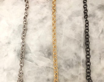 Assorted genuine shell necklace on antique bronze chain