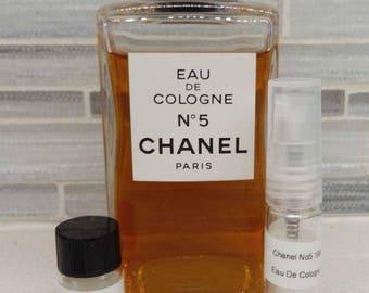 1980s Chanel No. 5 Eau De Cologne Iconic Fragrance Decant Samples