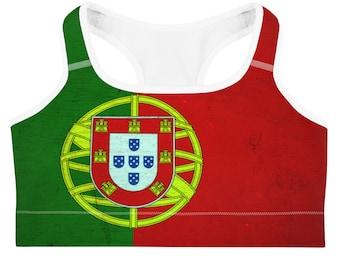 5766a6f392 Portugal Flag Bra Top