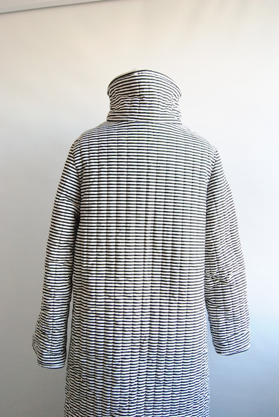 Vuokko Vintage Black and White Striped Outerwear … - image 3