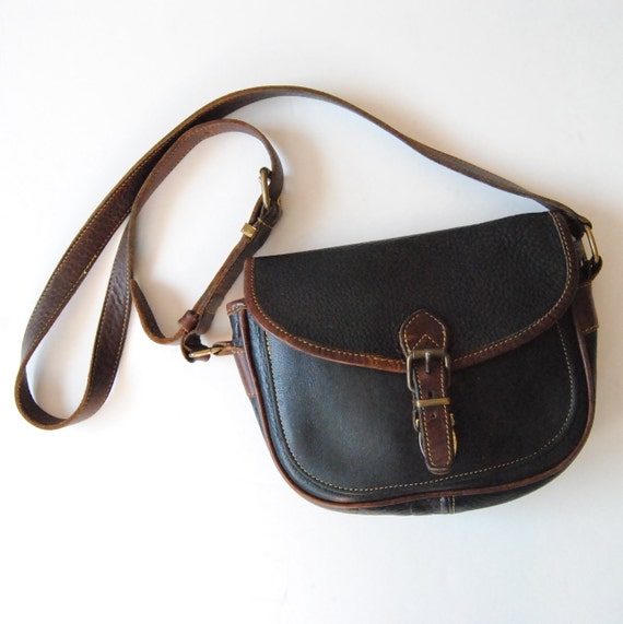 Vintage Roots Shoulder Bag Purse in Black Leather  d53add6886c8