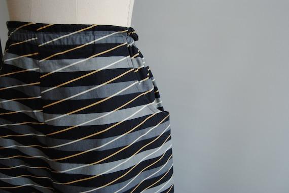 Vuokko Finland Geometric Pattern Midi Skirt Sz M - image 4