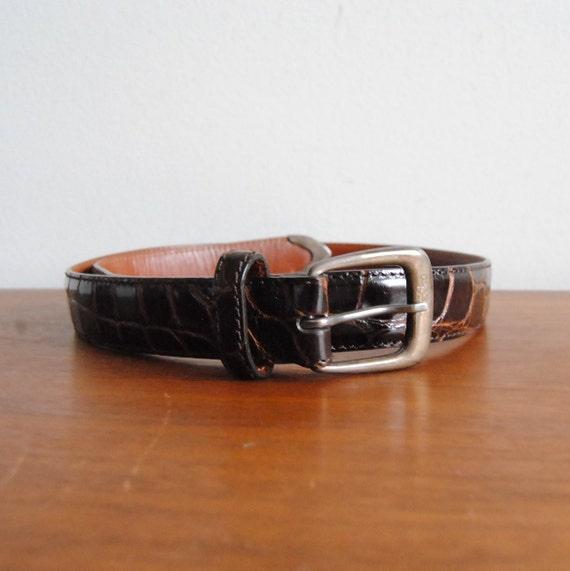 Ralph Lauren boucle en argent Sterling avec ceinture en cuir   Etsy 41ea76132e4