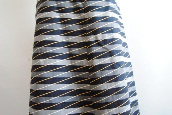 Vuokko Finland Geometric Pattern Midi Skirt Sz M - image 5