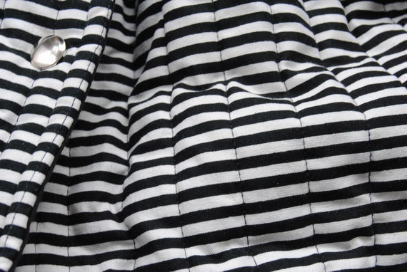 Vuokko Vintage Black and White Striped Outerwear … - image 7
