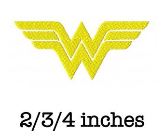 Wonder Woman logo machine embroidery design 2/3/4 inch instant download