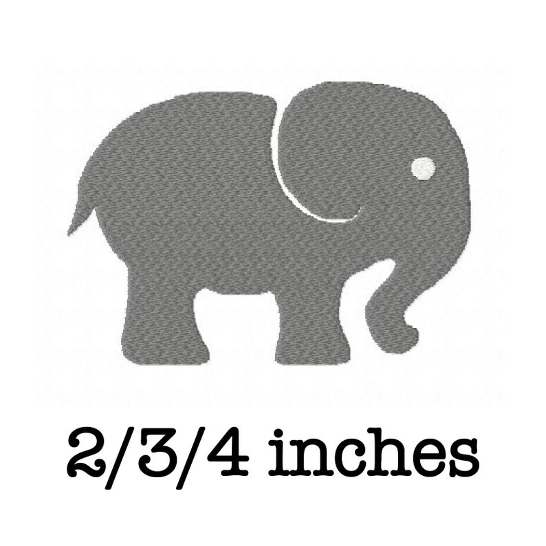 120eb0caa202b Elephant machine embroidery design 2/3/4 inch instant download