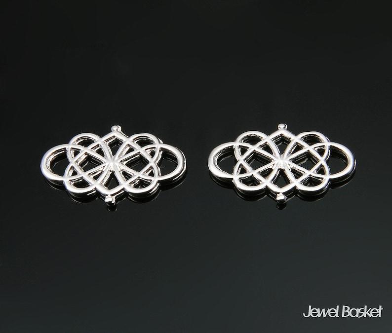 4pcs Lace Pendant in Matte Rhodium  20mm x 13mm  BMS292-P