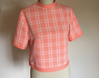 6c34aeb8db Vintage 60s polyester shell crop top