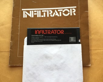 Commodore 64 Infiltrator Floppy Disk video game