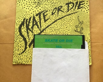 Commodore 64 Skate or Die Floppy Disk video game