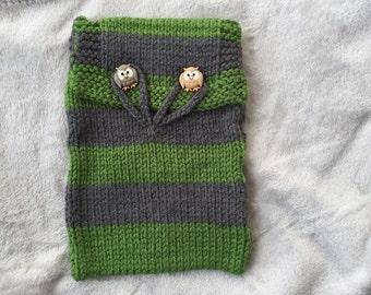 Knit Slytherin Case for eReader
