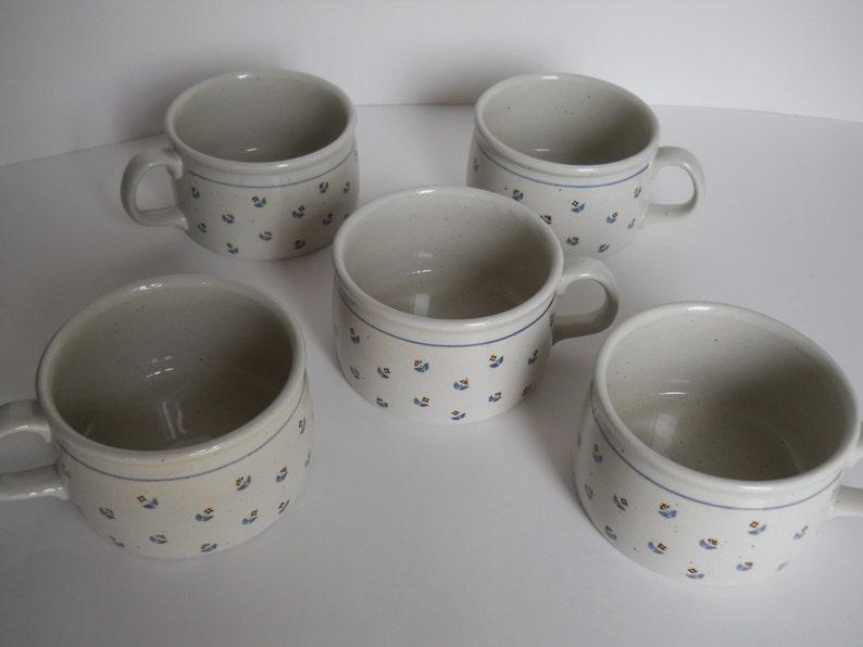 Vintage Soup Mugs - Ensemble de 5