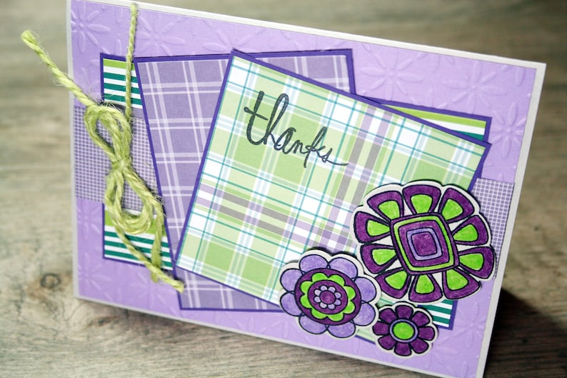 THANKS Thank You Card Blank with Matching Envelope image 0