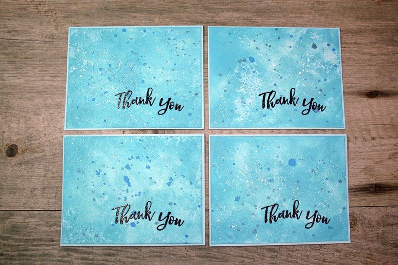 THANK YOU CARDS Custom Set of 4 Blank on the Inside image 0