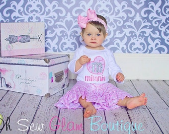 Valentines Day Personalized Heart Shirt - Boutique Embroidered Shirt - Girls Embroidered Shirt