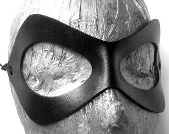 Superhero Mask / Robin Mask / Cosplay Mask / Leather Mask / Harley Quinn Mask / Harley Costume / Black Leather Mask/ Ms Marvel / Domino Mask