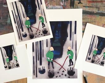 Giclée Print, Abstract Art Print, Figurative Art, Forest Art